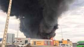 Incendio de este martes en la localidad toledana de Seseña. Foto: EL DIGITAL CLM