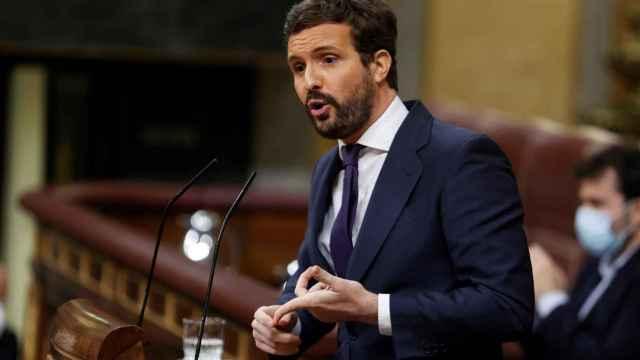 Pablo Casado, en un momento de su intervención.
