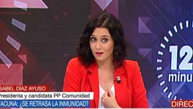 Ayuso en entrevista a Telemadrid.