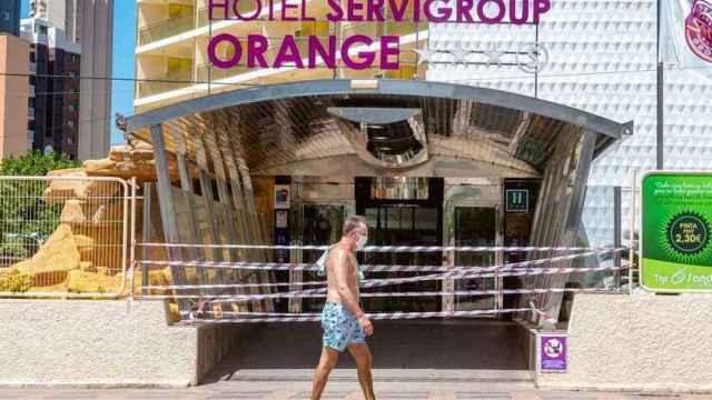 Hotel de Benidorm cerrado, en imagen de archivo.