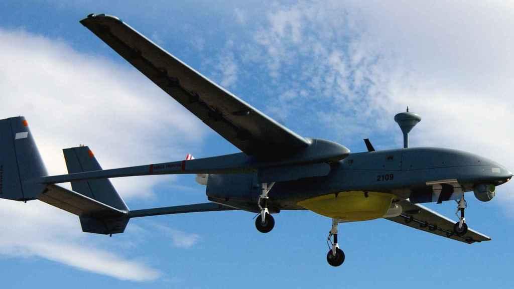 Imagen del IAI Heron, también conocido como Majatz-1, dron israelí desarrollado por Malat.