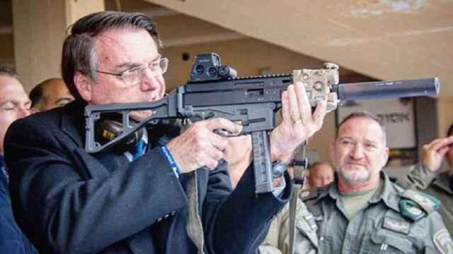 Bolsonaro durante una visita a Israel.