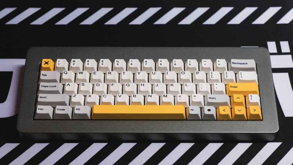 Un teclado XeNano montado por @JoseJacas.