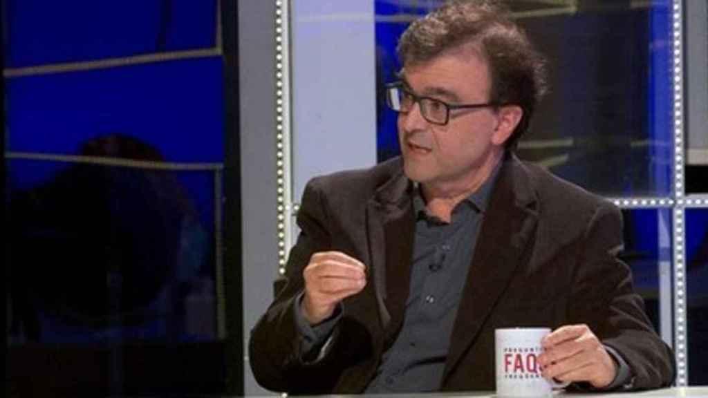 El escritor Javier Cercas durante su polémica entrevista en TV3.