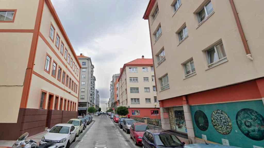 Calle de La Torre, en el Barrio de Monte Alto (A Coruña).