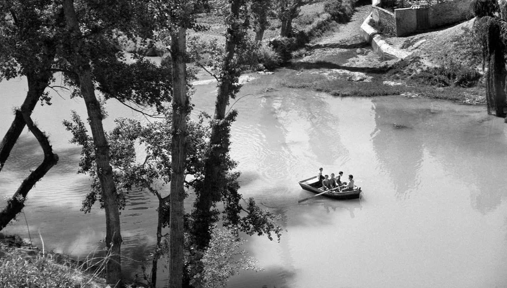 El río Huécar. Cuenca. Circa 1952.