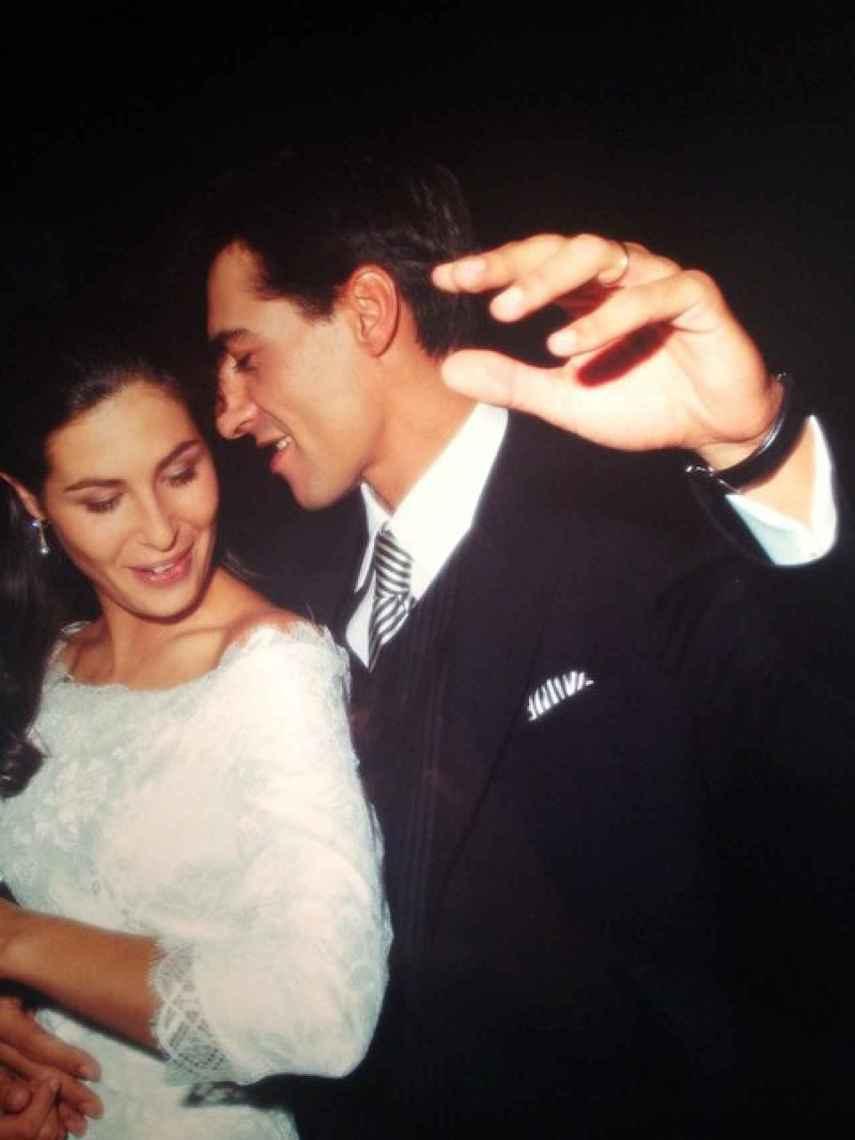 Nuria Roca y Juan del Val, en el día de su boda.