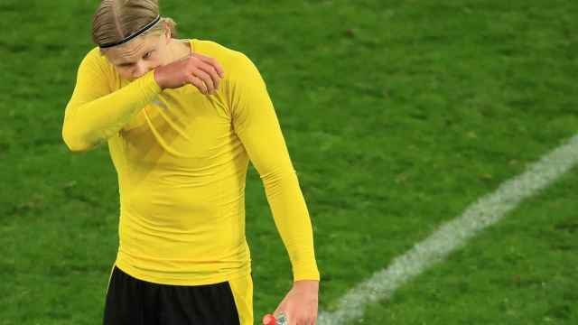 Erling Haaland, durante la eliminatoria frente al Manchester City