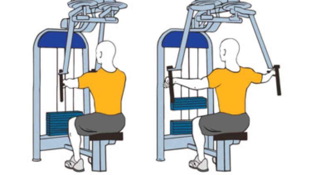 Aperturas invertidas con agarre horizontal.