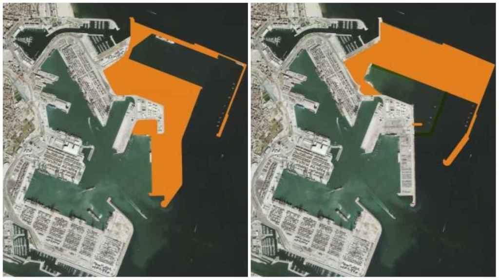 Cambio introducido en el proyecto de ampliación norte del Puerto de Valencia. EE