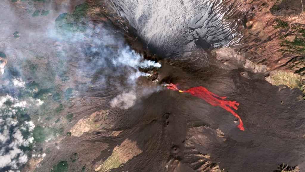 Flujos de lava del volcán Etna