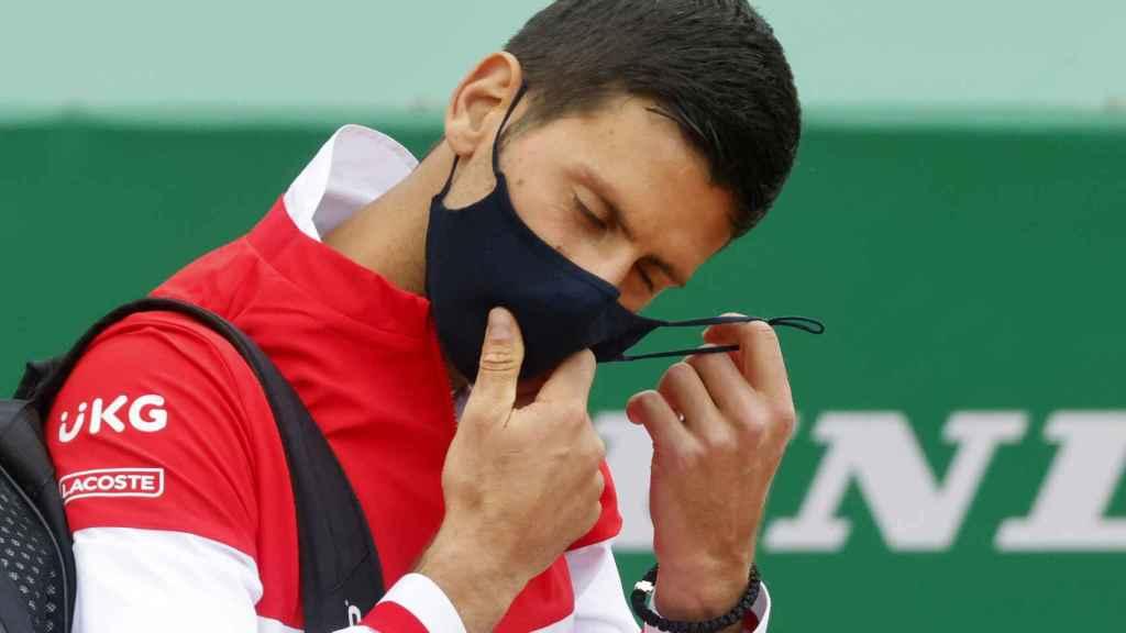 Novak Djokovic, durante el Masters 1000 de Montecarlo