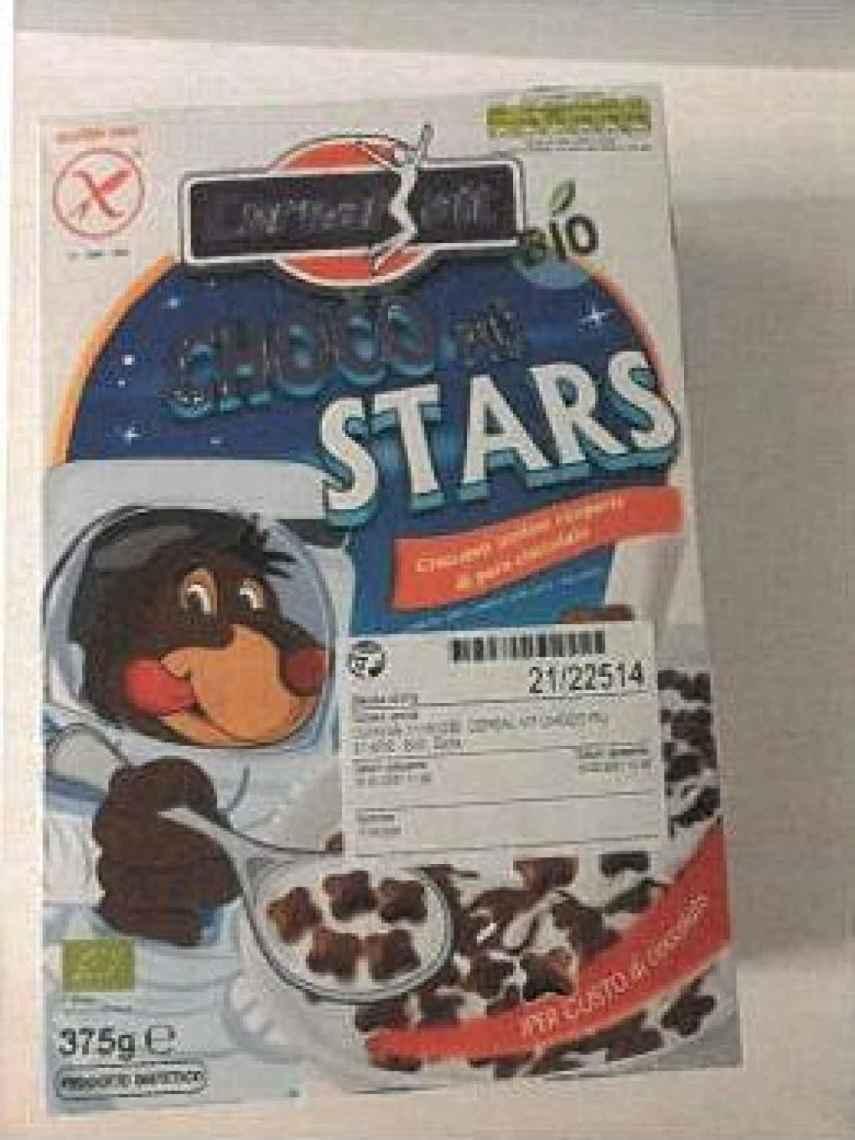 Imagen del envase de los cereales sobre los que ha alertado la Aesan.
