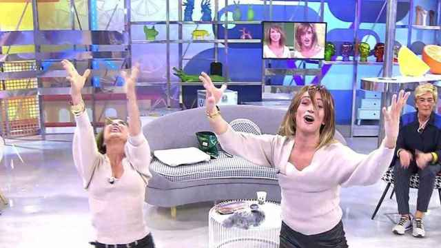 María Patiño y Josep Ferré en 'Sálvame'.