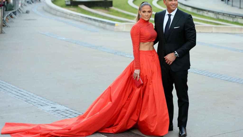 Jennifer Lopez y Alex Rodriguez en una imagen de archivo.