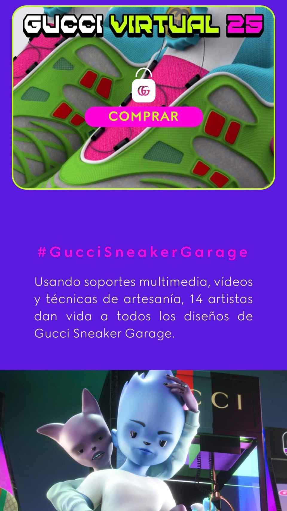 La aplicación Gucci Garage.