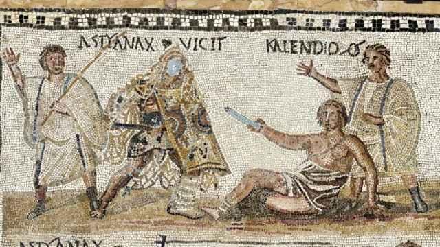 Mosaico encontrado en el año 1670 en el huerto Carciofolo, en la ladera del monte Celio en Roma.