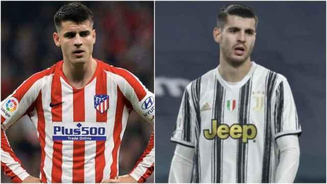 Morata, en el Atlético y la Juventus