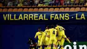 El Villarreal celebra un gol en Europa League