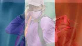 Rafa Nadal en un fotomontaje con la bandera de Francia