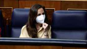 Ione Belarra, ministra de Derechos Sociales, en el Congreso.
