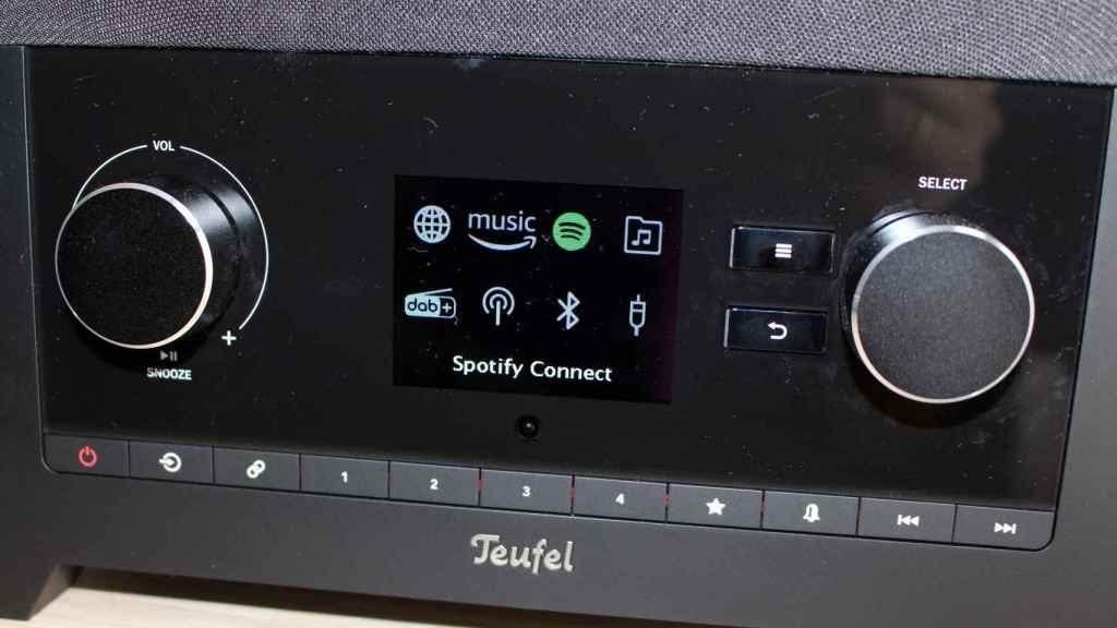 Así es la pantalla con todos los modos de la RADIO 3SIXTY de Teufel.