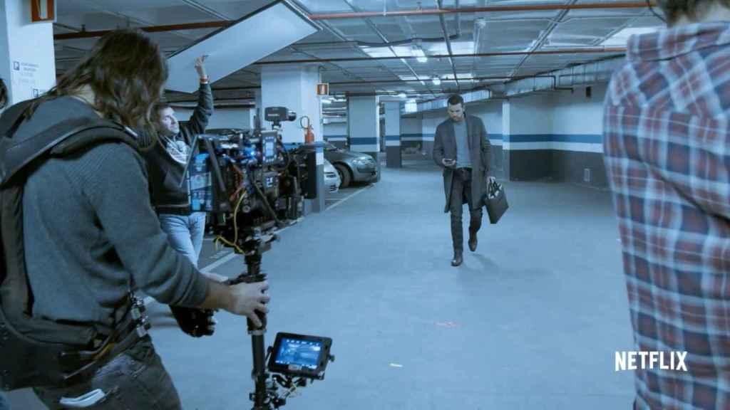 Mario Casas en el rodaje de 'El inocente'.