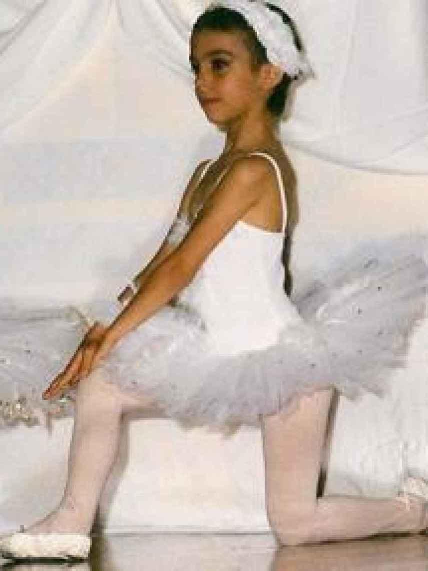 Georgina, en una función de ballet cuando era pequeña.