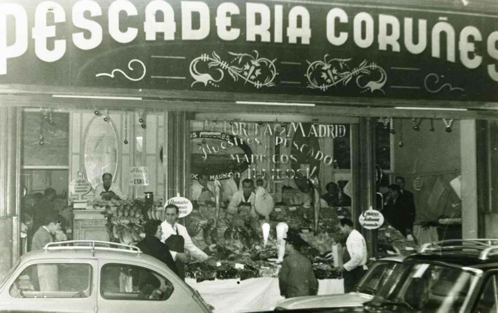 Tienda Calle Recoletos de Pescaderías Coruñesas.