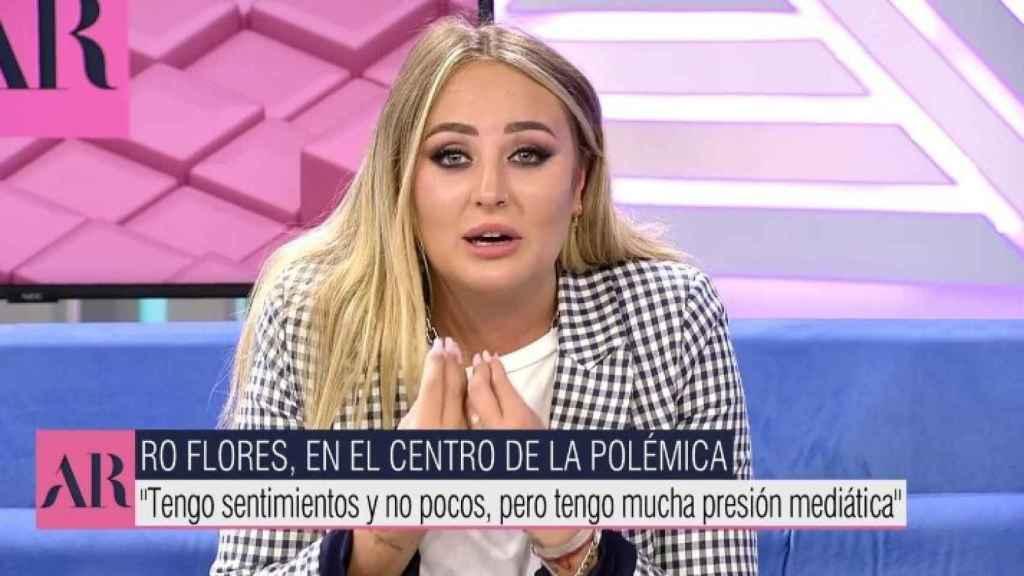 Imagen de Rocó Flores durante su mensaje en 'El programa de Ana Rosa'.