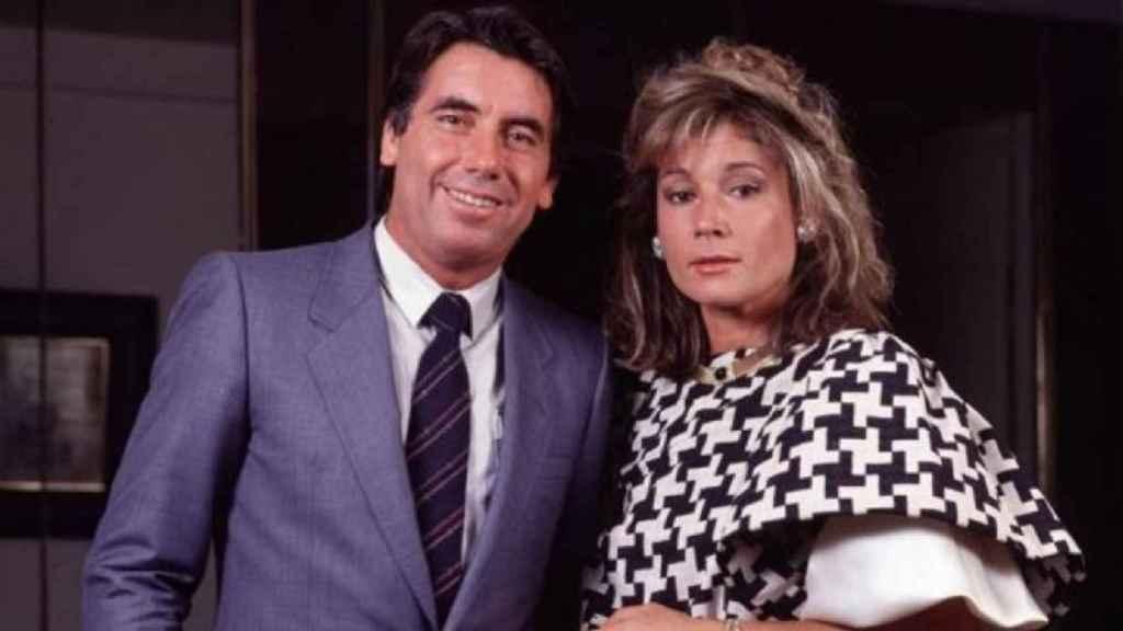 Manolo Santana y Mila Ximénez en una imagen de archivo tras casarse.