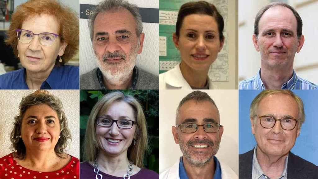 Margarita del Val, Salvador Peiró y otros seis importantes científicos españoles.