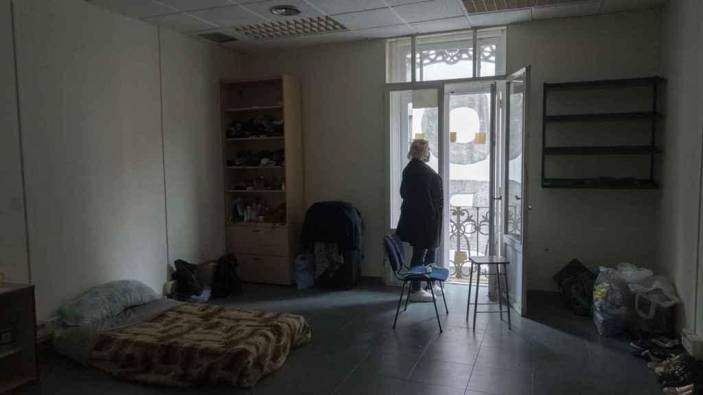 Habitación de Susana en el albergue.