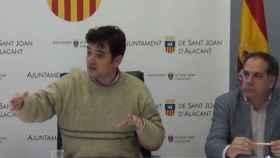 Jaime Albero (PSOE) y Santiago Román (Cs), de Sant Joan.