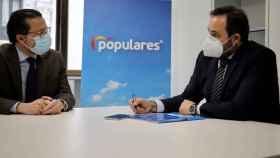 Javier Fernández-Lasquetty y Paco Núñez en LA reunión que han mantenido este viernes