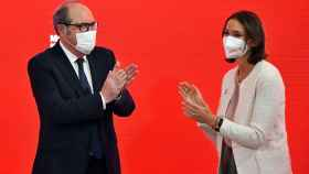 Ángel Gabilondo, con Reyes Maroto, a la que ha propuesto como vicepresidenta económica.
