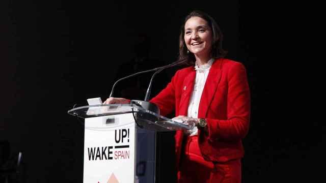 La ministra de Industria y Turismo, Reyes Maroto, durante el simposio 'Wake Up, Spain!' de EL ESPAÑOL.
