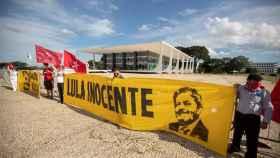 Una manifestación a favor de Lula.