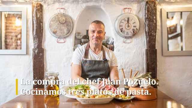 La compra del chef Juan Pozuelo. Cocinamos tres platos de pasta.
