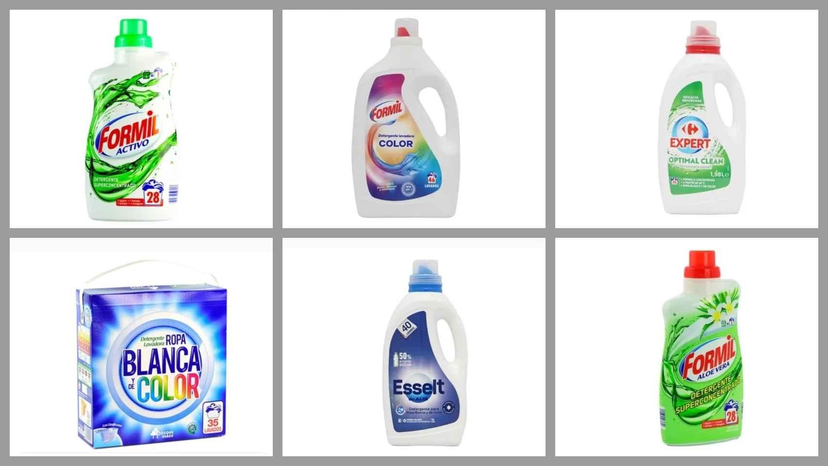 Los 12 mejores y peores detergentes de marca blanca según la OCU:
