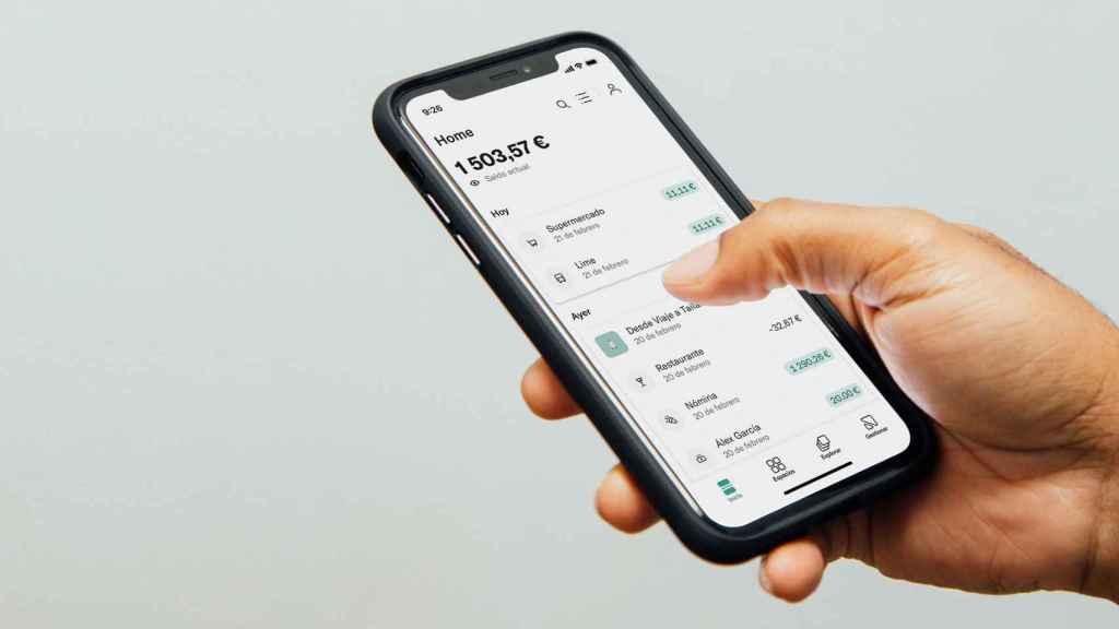 Imagen de la aplicación móvil de N26.