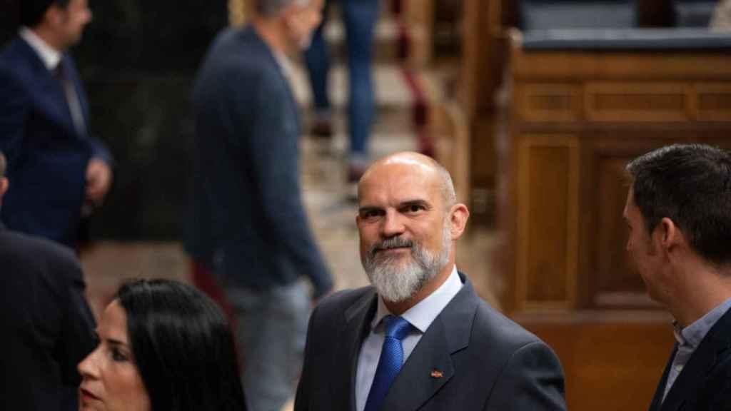 El diputado Víctor Sánchez del Real, en el Congreso.