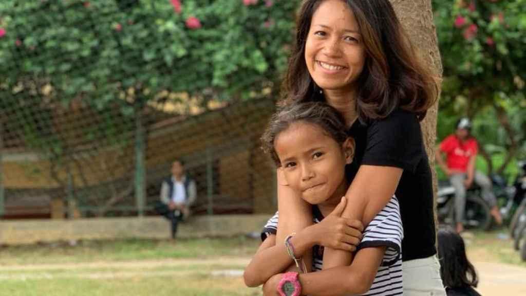 Phia Nim, de 36 años, en una comunidad de la Prefectura de Battambang (Camboya).