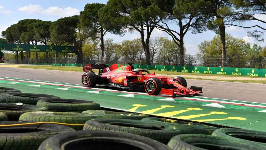 Leclerc en el Gran Premio de Emilia Romaña