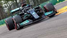 Lewis Hamilton, en el GP de Emilia Romaña