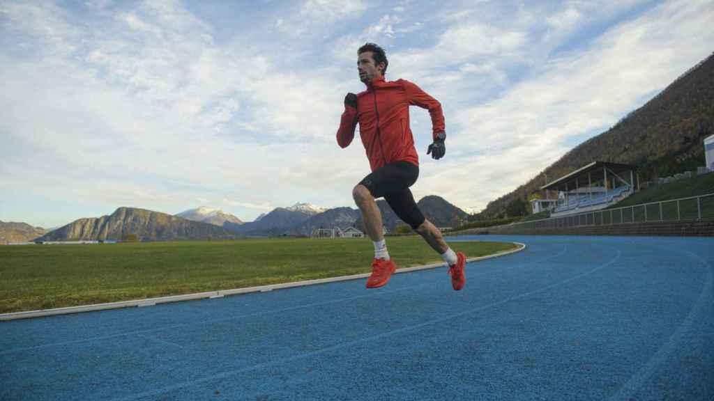 Kilian Jornet durante un entrenamiento