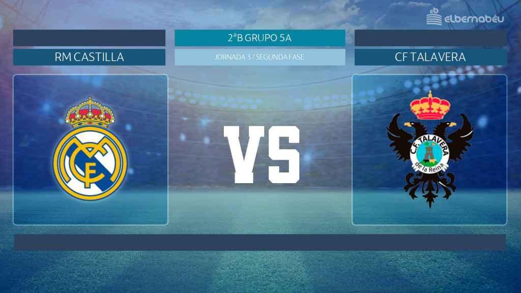 Streaming en directo | Real Madrid Castilla - Talavera de la Reina