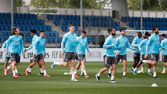 El Real Madrid se entrena