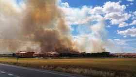 Imagen de archivo del reciente incendio en Seseña (Toledo)