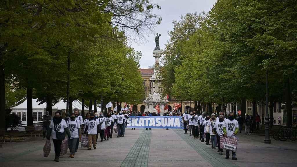 La manifestación de Sortu en Pamplona.